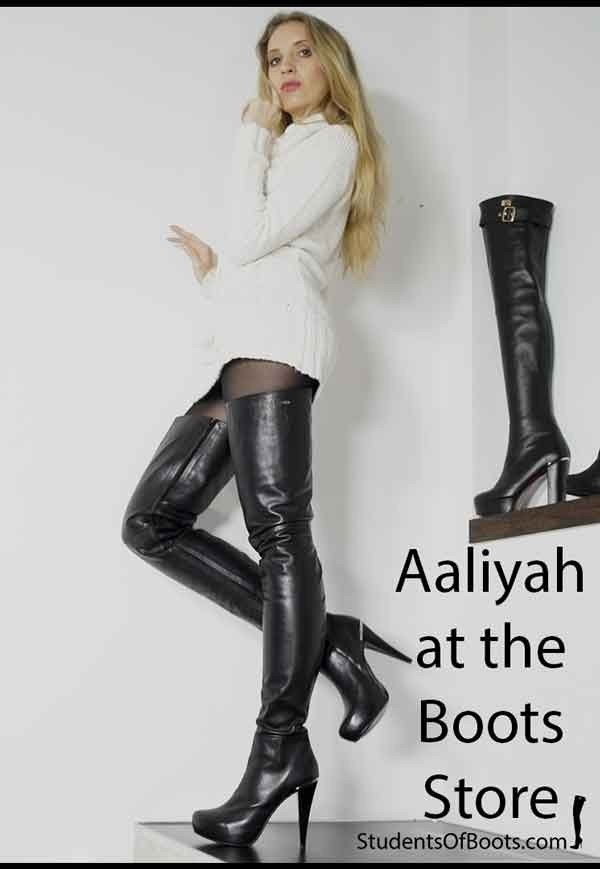 Aaliyah at the Boots Store