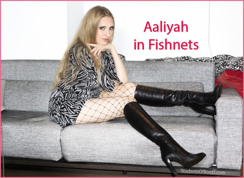 Aaliyah in Fishnets