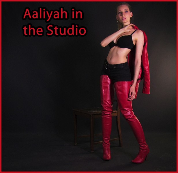 Aaliyah in red