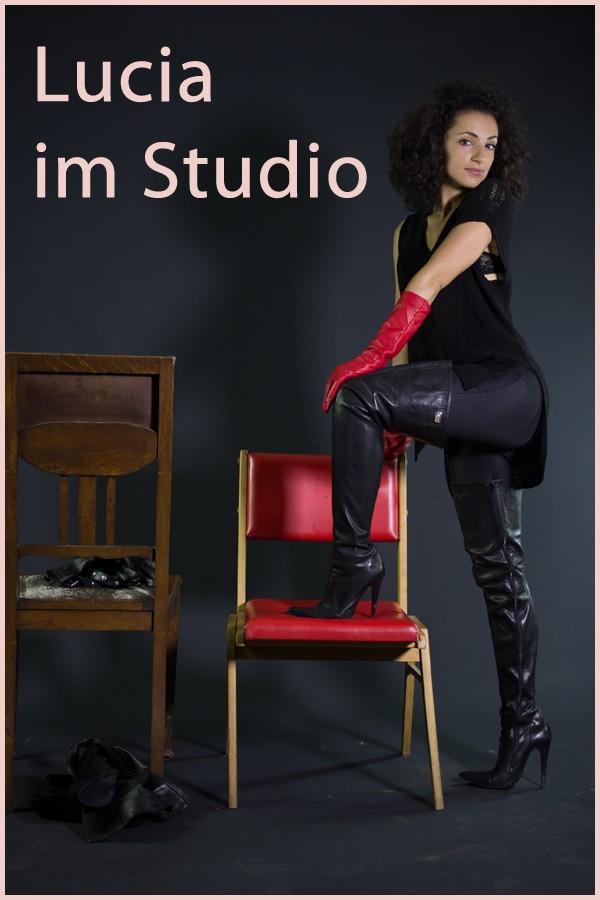 Lucia in the studio