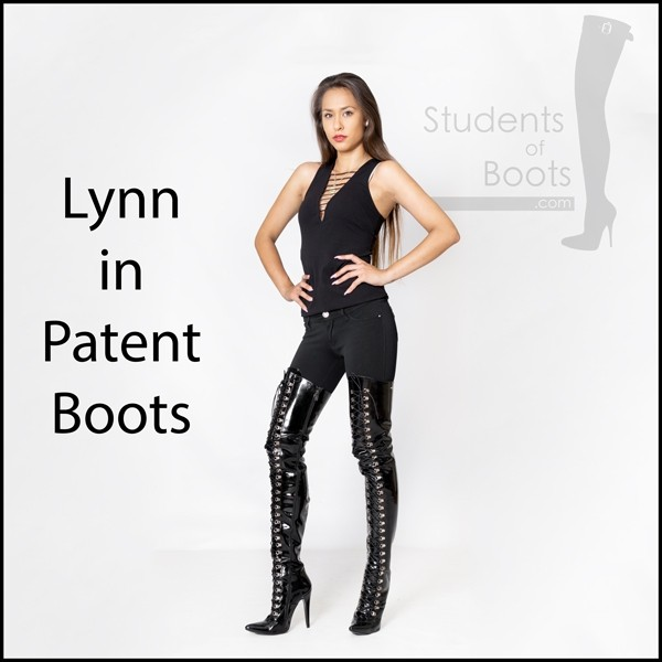 Lynn in Patent Boots