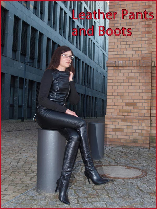 leather pants& boots