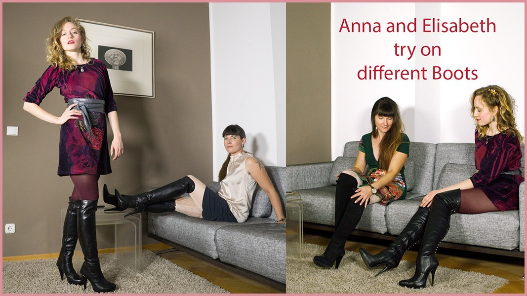 Anna and Elisabeth try on new Boots