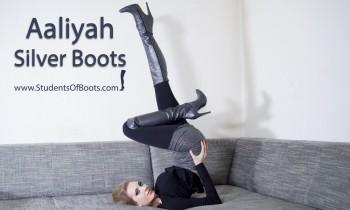 Aaliyah Silver Boots
