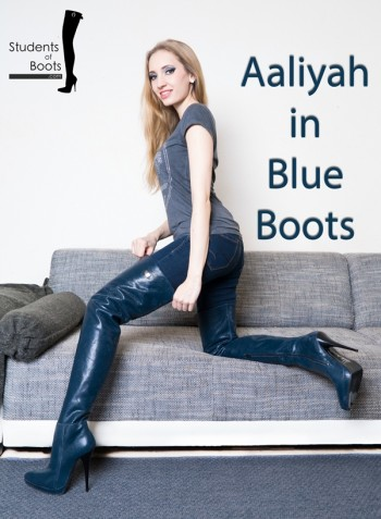 Aaliyah in Blue Boots