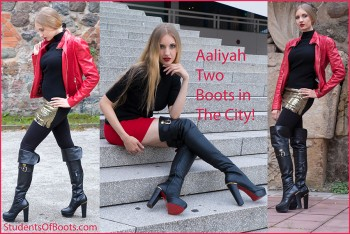 Aaliyah Two Boots in the City