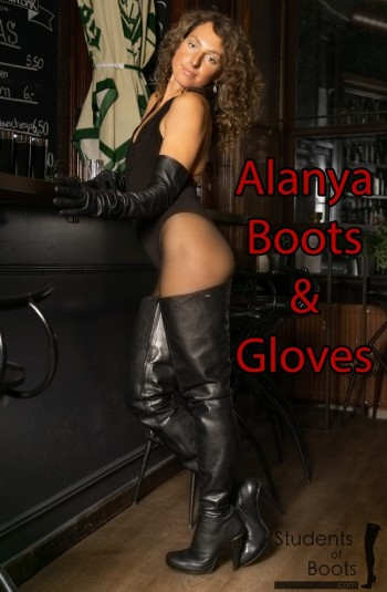Alanya Black Boots and Gloves