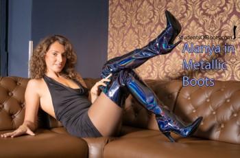 Alanya Metallic Boots