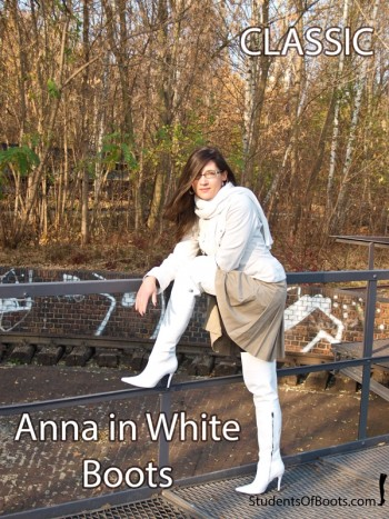 Anna in White Boots Classic
