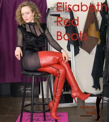 Elisabeth red Boots