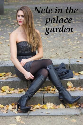 Nele in the palace garden