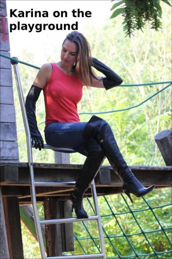 Karina on the playground