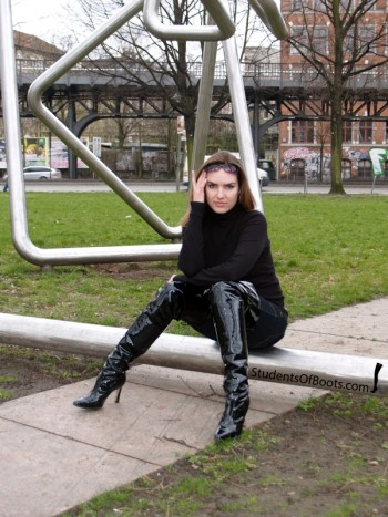 Karina in Patent Boots Classic