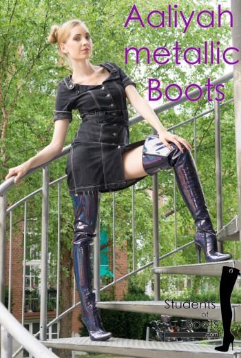 Aaliyah metallic Boots