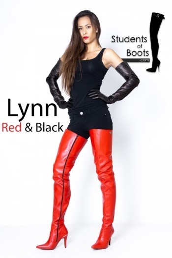 Lynn Red Boots and Gloves