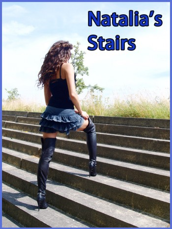 Nathalia in high heel boots