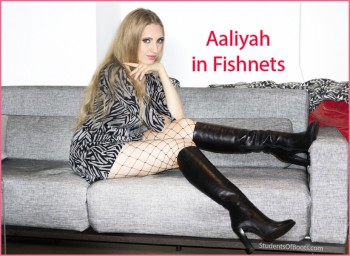 Aaliyah in Fishnets