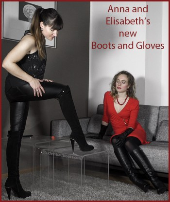 Anna and Elisabeth's new Boots and Gloves