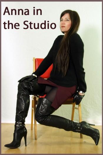 Anna in the studio