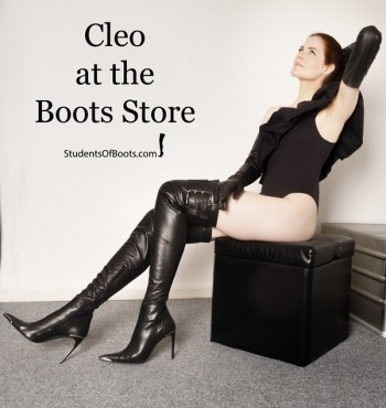 Cleo at the Boots Store