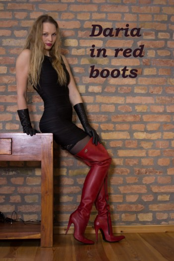 Daria in red boots