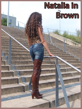 Natalia in brown boots
